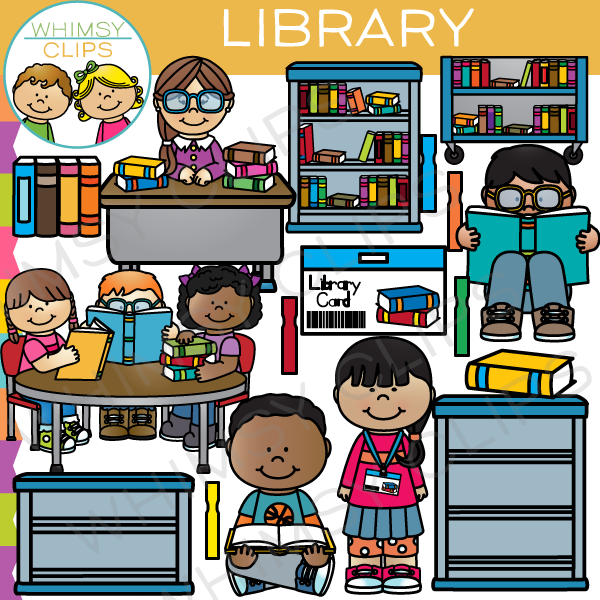 banner royalty free stock Kids in library clipart. At the clip art.