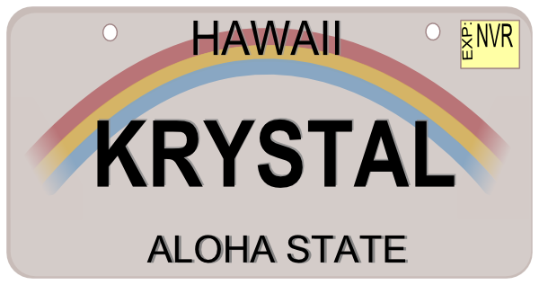 clipart transparent Hawaii license plate clip. Vector plates