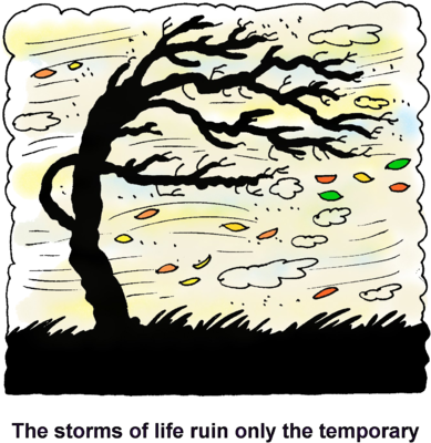 clip stock Life clipart cartoon tree. Image windswept the storms.