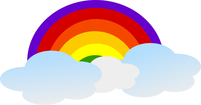 jpg download Vector gif cloud. Free rainbow clipart animated