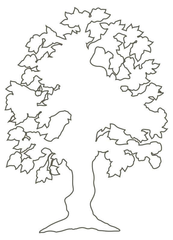 jpg library stock Tree of clip art. Life clipart silhouette.