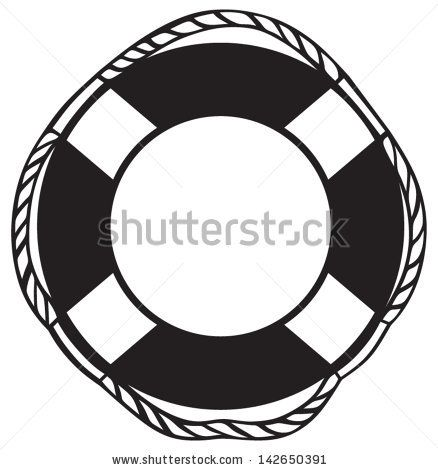 image library download Clip art anchor rope. Life preserver clipart black and white.