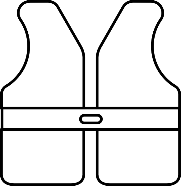 banner free download Life Vest Outline Clip Art at Clker