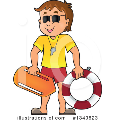 library Illustration by visekart . Lifeguard clipart.