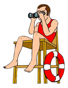 svg black and white stock Lifeguard clipart. Drassa sport services dubai.