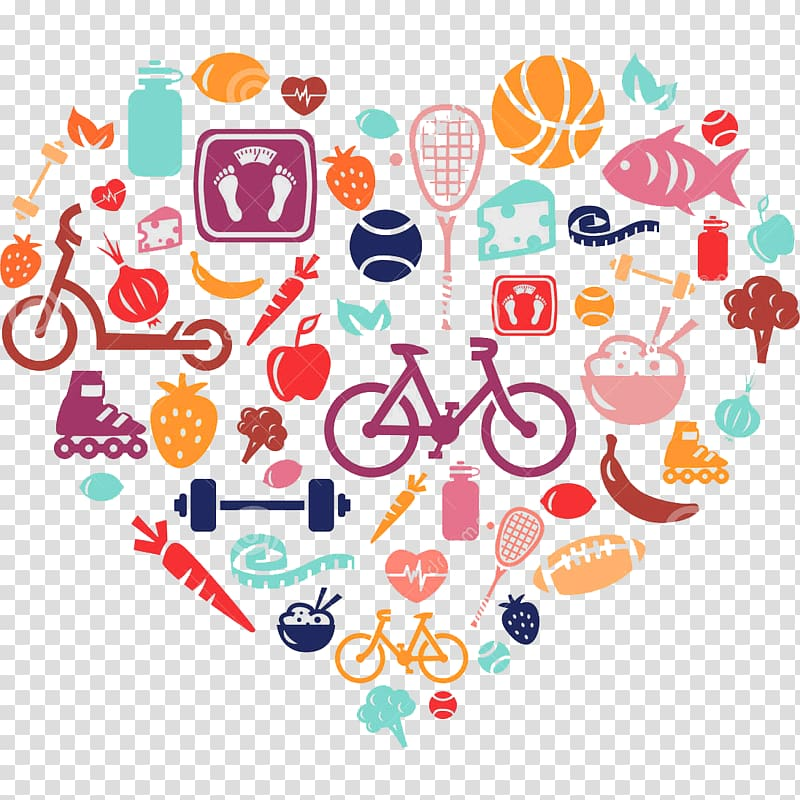 image black and white Diet health food transparent. Lifestyle clipart healthy heart.