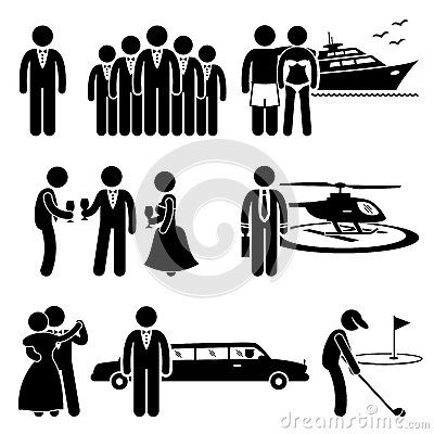 vector library Lifestyle clipart luxurious lifestyle. Rich people expensive activity.