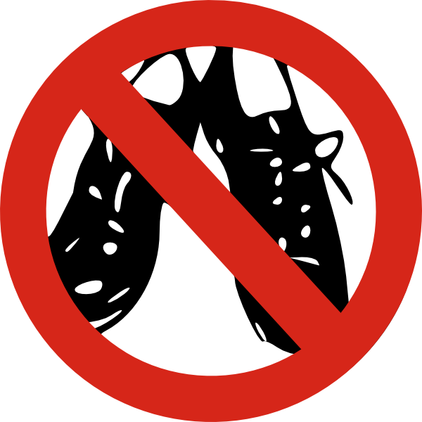 svg royalty free download No Shoes Allowed Clip Art at Clker