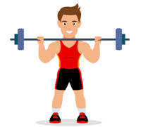 image freeuse stock Sports free to download. Weightlifting clipart