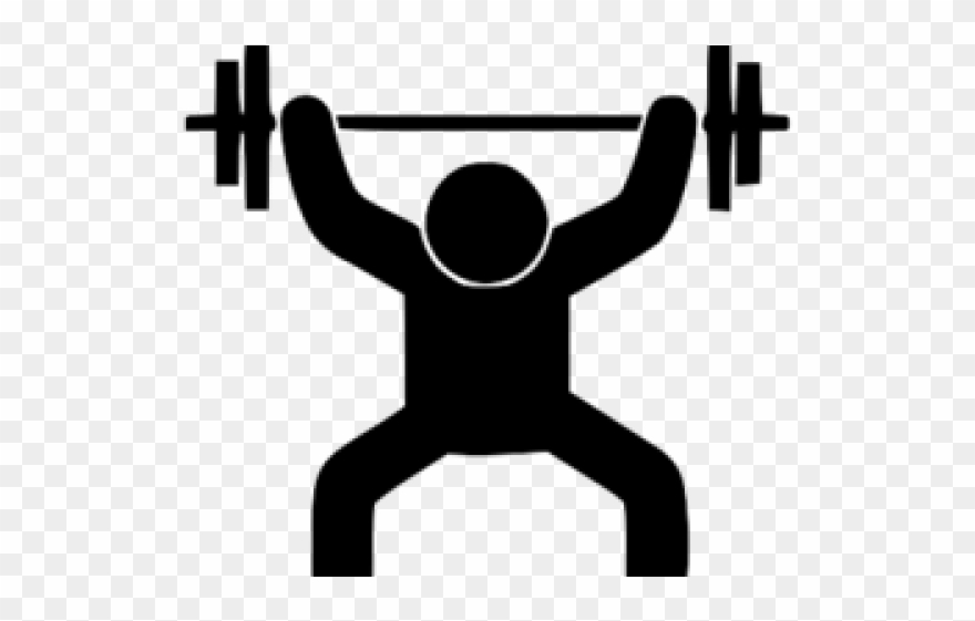 clip art library library Weightlifting clipart. Men stick man lifting