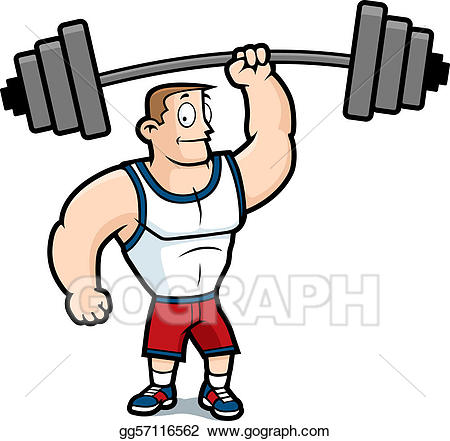 royalty free stock Lifting clipart. Vector art weights eps.