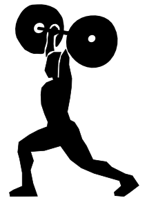 vector stock Lifting clipart. Weight clip art at