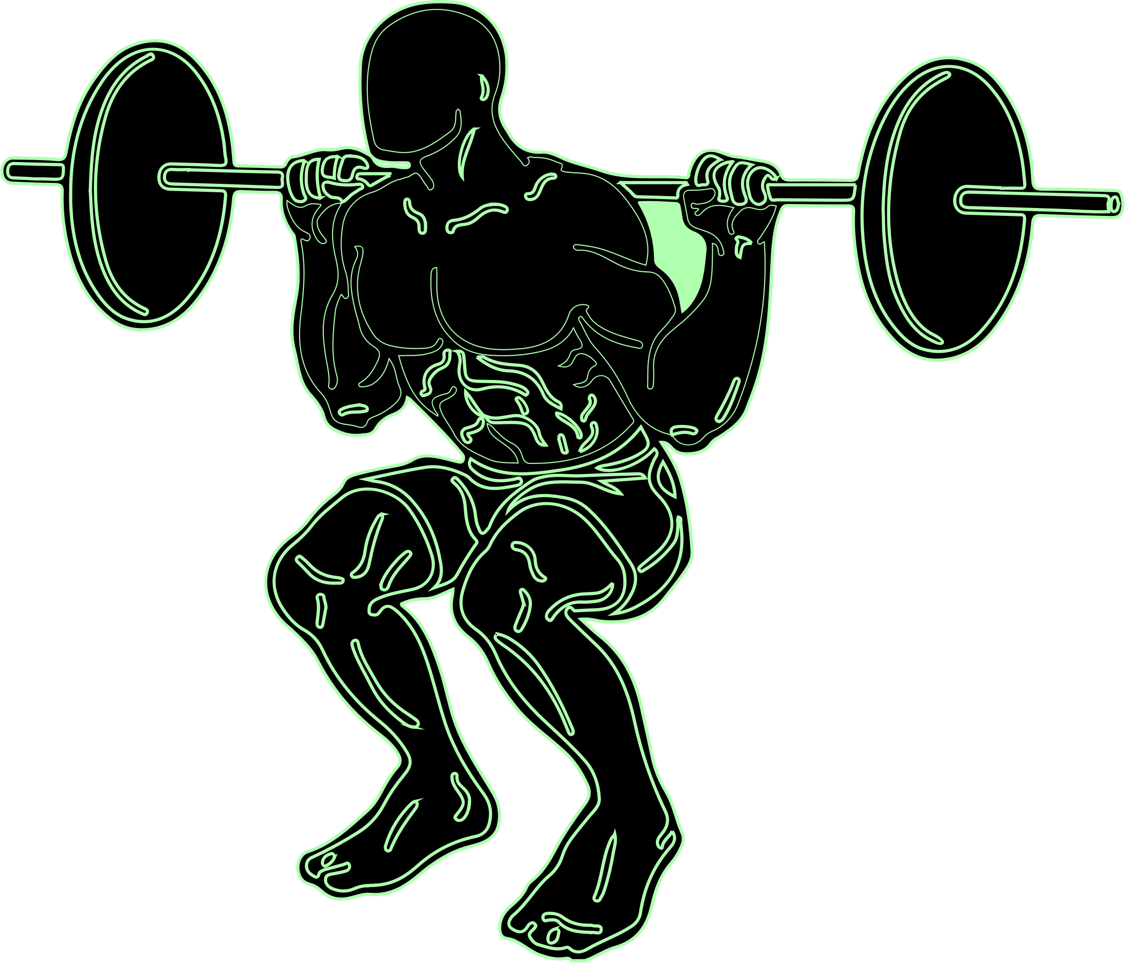 clipart royalty free library Weightlifting clipart. Weight lifting silhouette clip