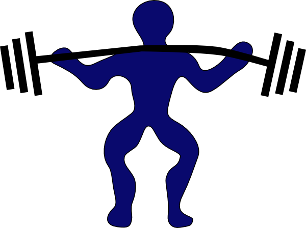 transparent Weightlifting Clipart at GetDrawings