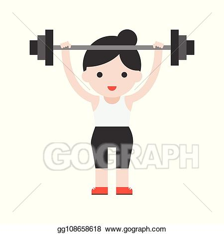 picture free download Lifting clipart cute. Vector character weightlifter athlete