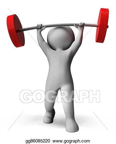 vector Stock illustrations weight means. Lifting clipart exercise.