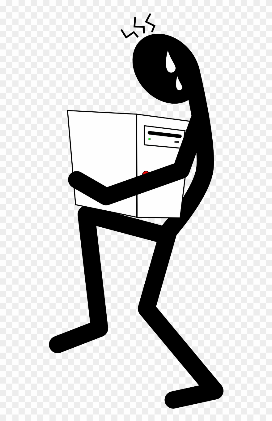 graphic free Lifting clipart heavy lifting. Carrying computer .