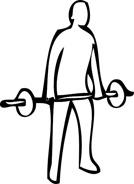graphic library Weight lifting clip art. Weights drawing black and white