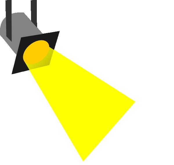svg black and white stock Spot Light Clip Art at Clker