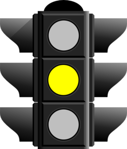 vector black and white library Light clipart yellow. Traffic clip art at.