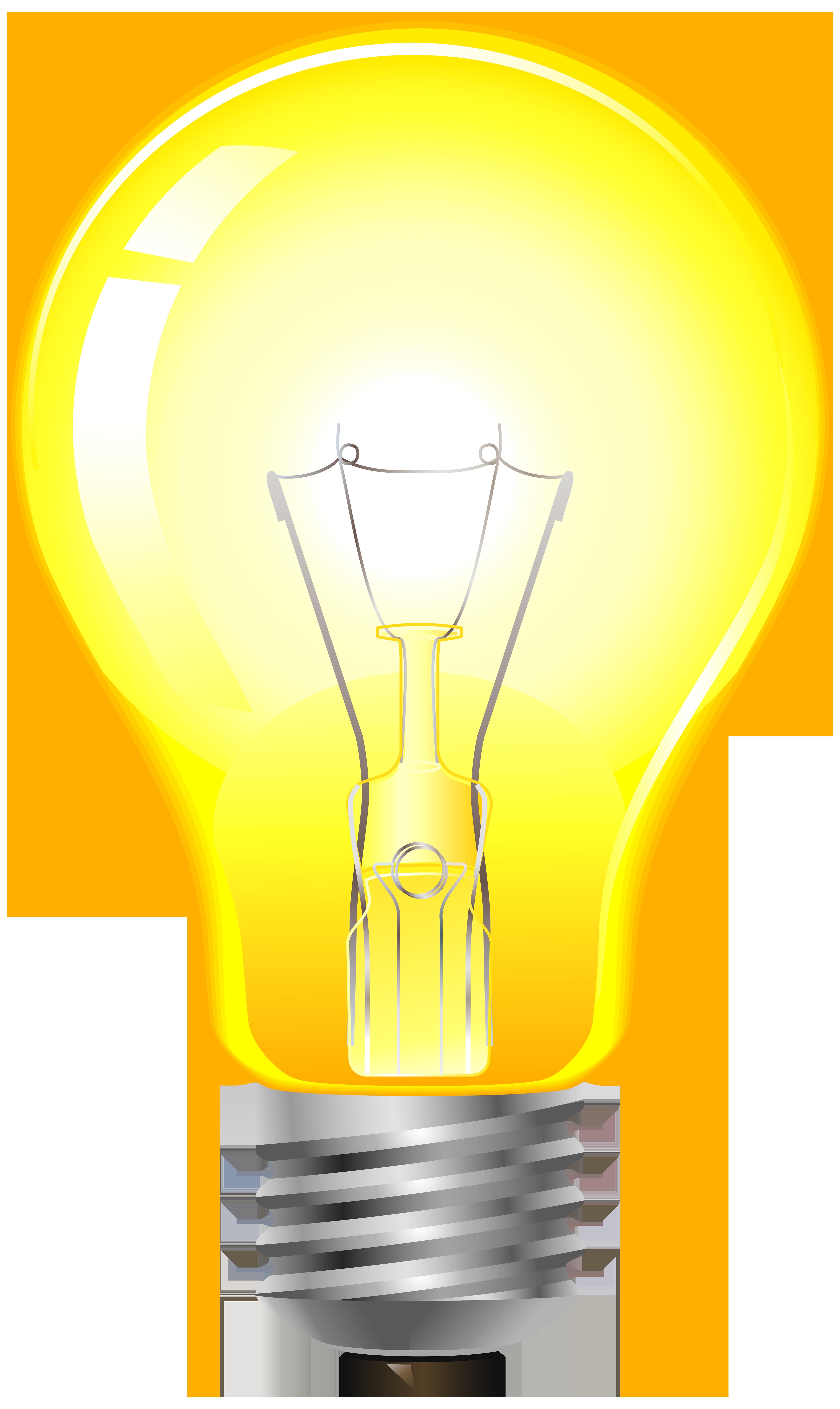 clip art royalty free stock Light clipart yellow. Bulb png clip art.