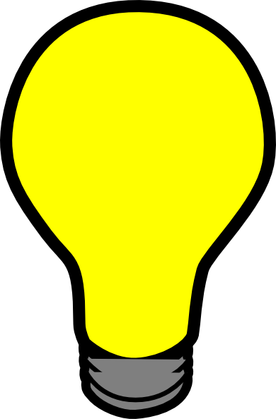 jpg transparent download Light clipart yellow. Bright png simple bulb.