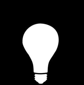 graphic black and white library Light Bulb Idea Clip Art