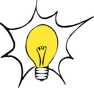 svg royalty free Thinking light bulb clip. Lightbulb clipart