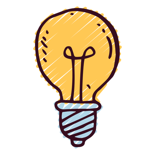 banner royalty free Lightbulb doodle icon