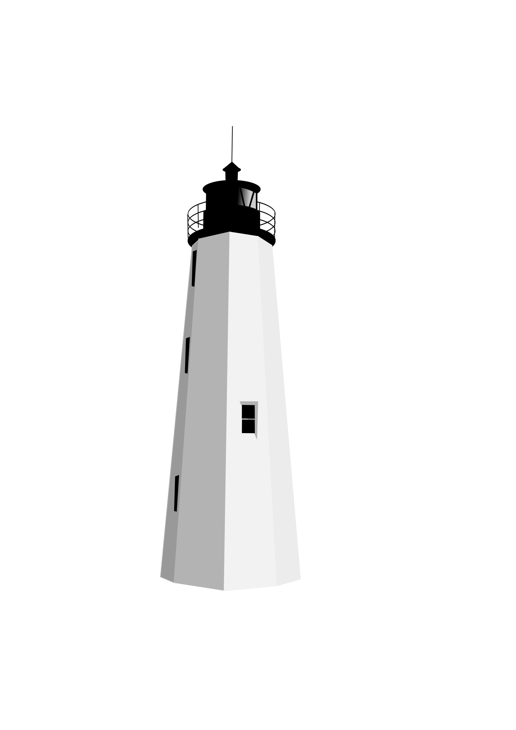 graphic royalty free stock Lighthouse clipart black and white. Transparent png stickpng