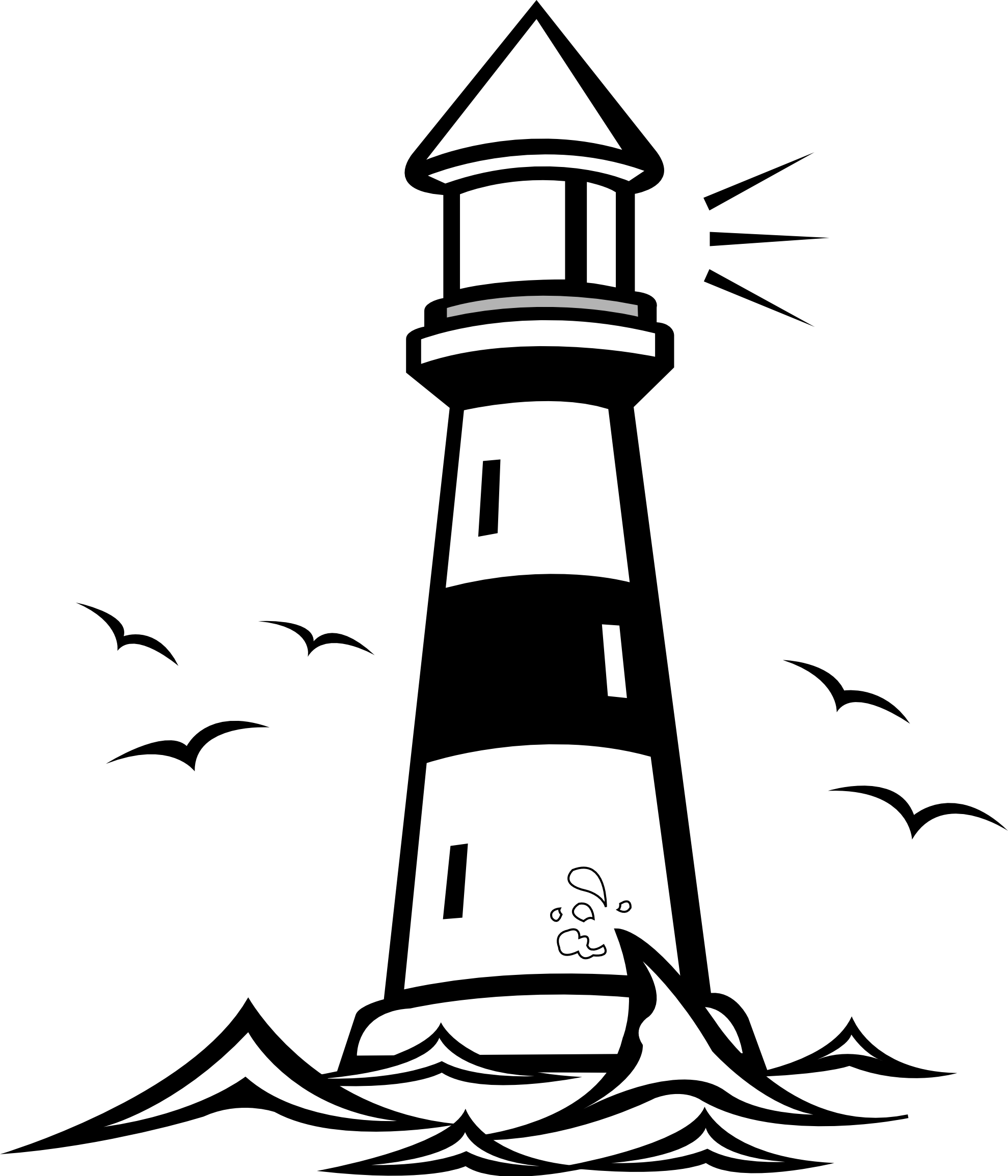 clipart black and white download Lighthouse Clipart silhouette