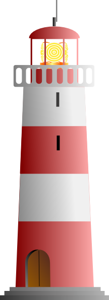 svg stock Lighthouse clipart simple. Red white clip art.