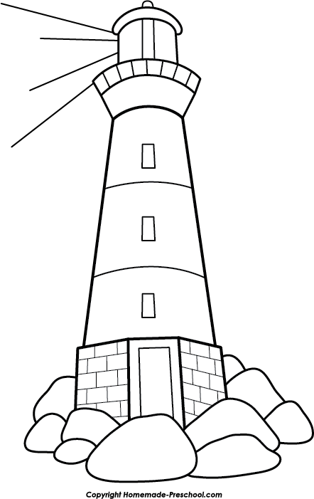 clipart Free click to save. Lighthouse clipart simple.