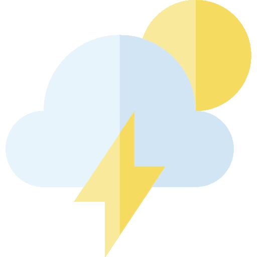 jpg freeuse download Stormy half moon weather. Lighting clipart lightning cloud