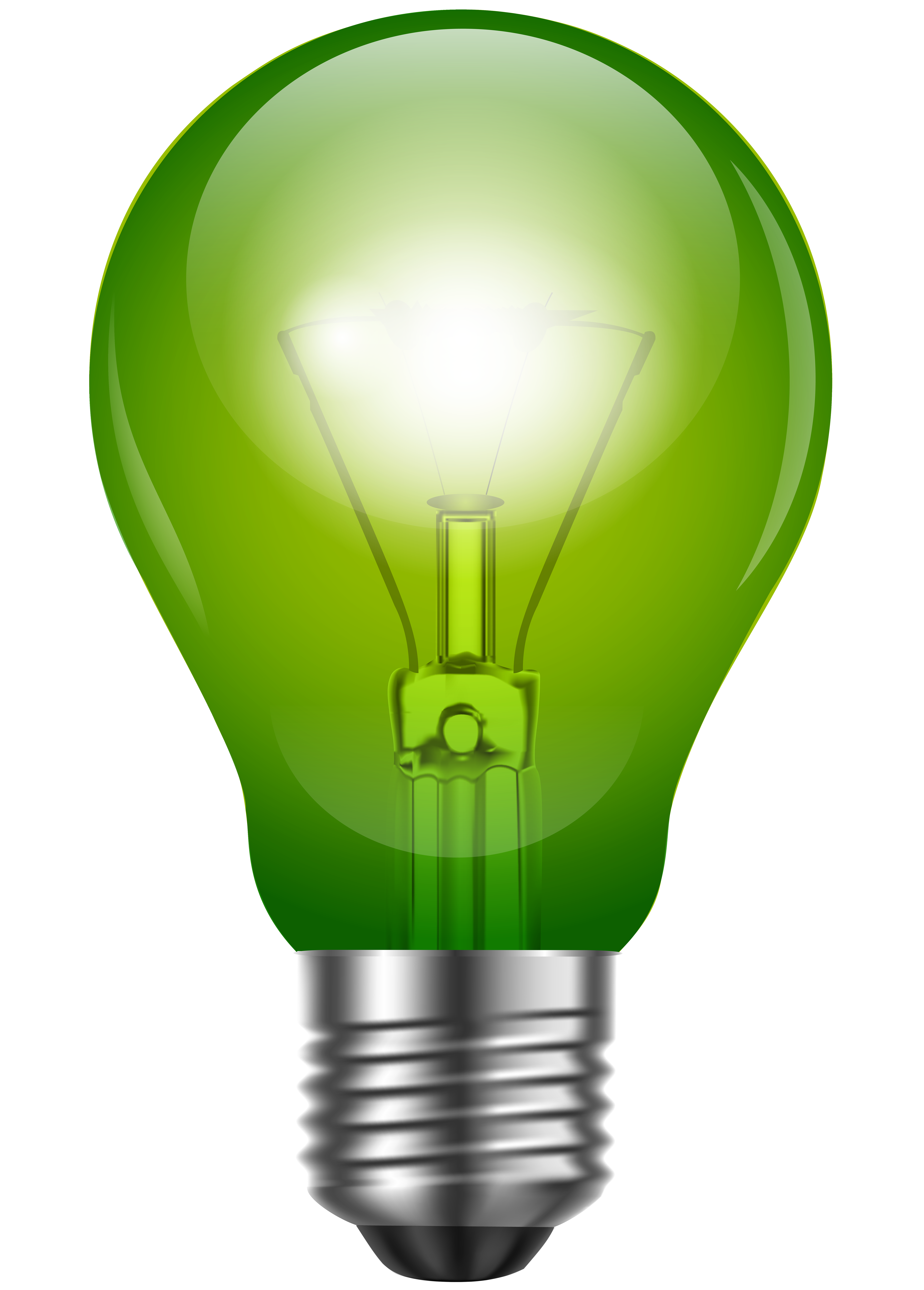 royalty free stock Green bulb png clip. Lighting clipart uses light.