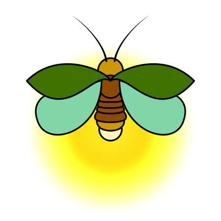 vector royalty free Station . Lightning bugs clipart