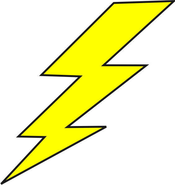 clip art black and white stock Lightning Bolt Logo