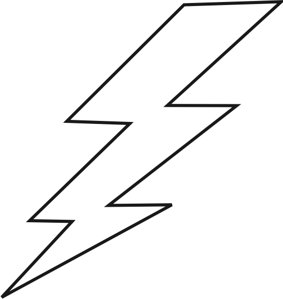 png freeuse library Lightning clip art at. Thunder clipart black and white