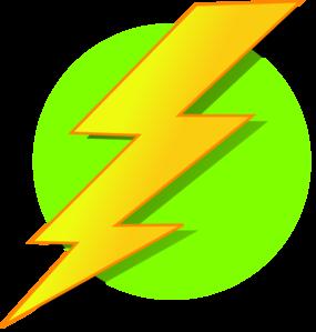 vector free Circle clip art at. Lightning clipart green.