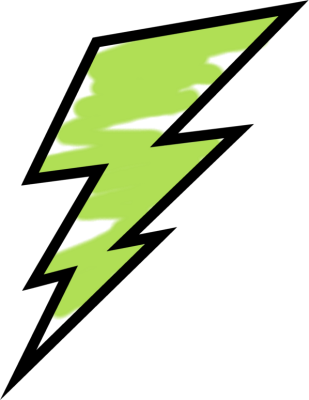 picture library stock Painted bolt clip art. Lightning clipart green.