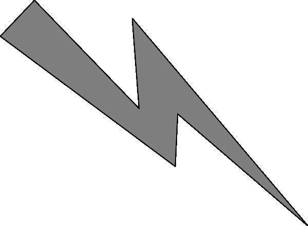 vector download Grey clip at clker. Lightning clipart line art.