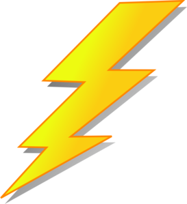 picture stock Clip at clker com. Lightning clipart line art.