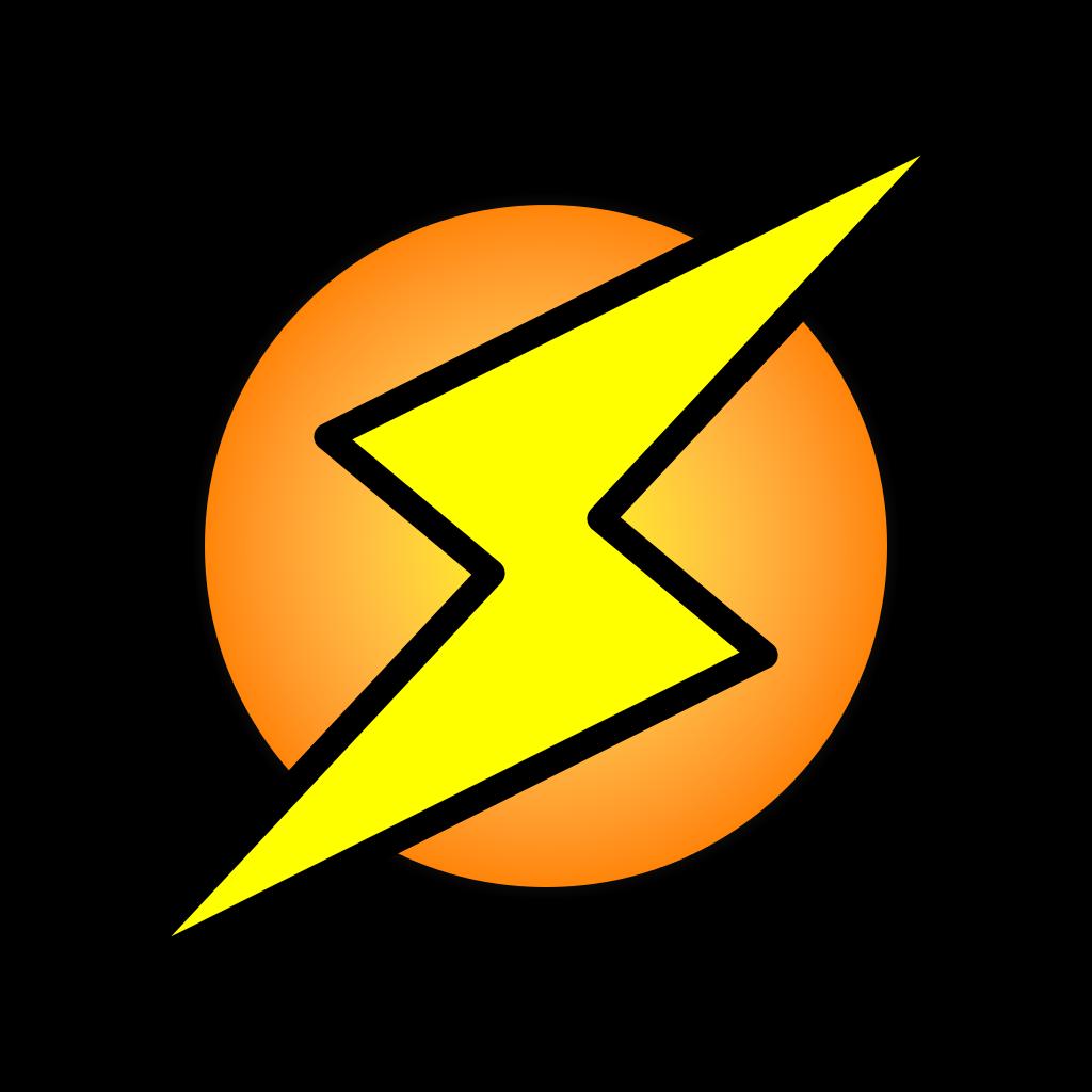 clip free download Bolt vector circle. Lighting picture desktop backgrounds