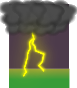 clipart black and white library Thunderstorm clipart thunder lighting. Elegantsolution clouds and lightning