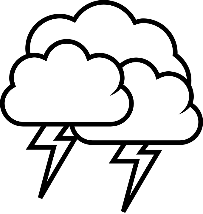 picture library stock Drawn lightning thunderstorm rain. Tornado clipart wind damage