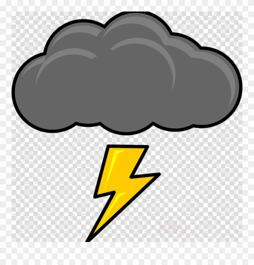 banner transparent stock Cartoon cloud lightning clip. Thunder clouds clipart.