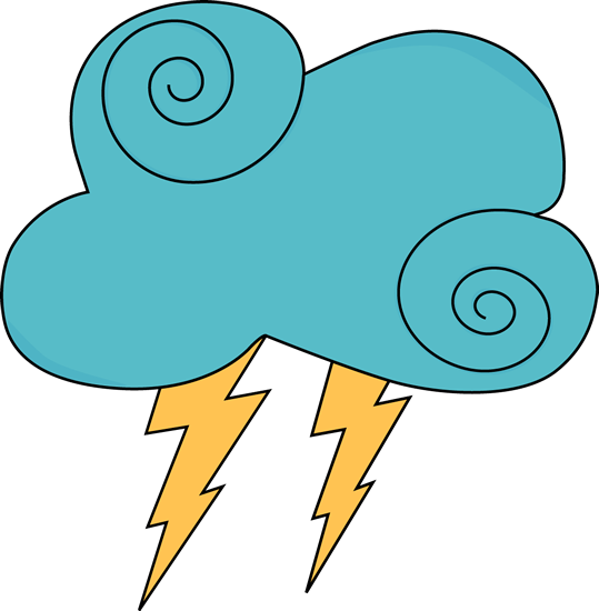 graphic library Clipart thunder. And lightning clip art.
