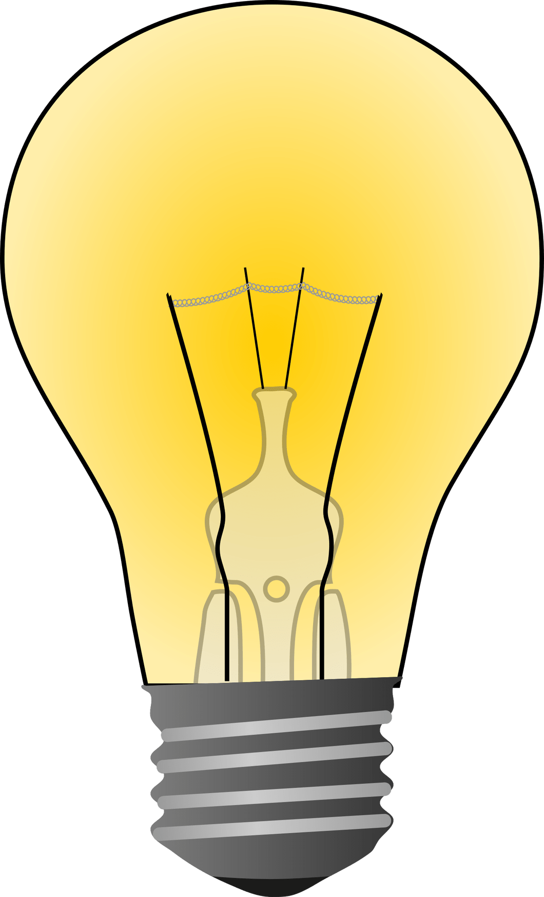 svg transparent stock Light bulb clip art. Lights clipart bold.
