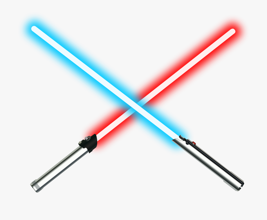 royalty free library Red and blue lightsabers. Lightsaber clipart.