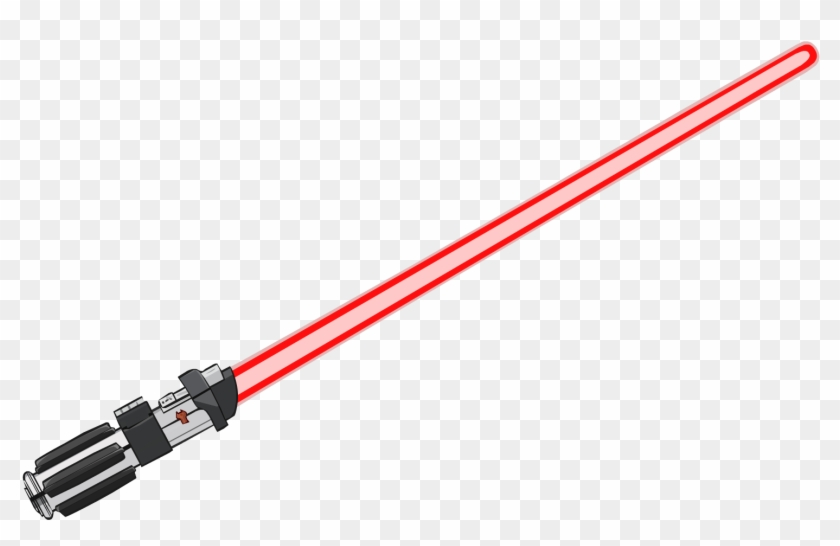 vector black and white library Lightsaber clipart lightsaber darth vader. Red png sable de.